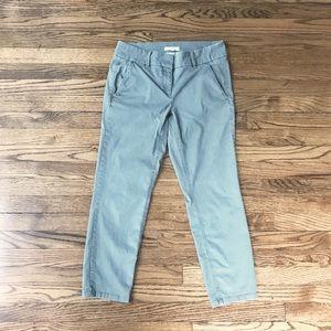 LOFT Cropped Gray Pant